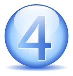 Number four button vector