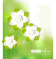 Spring cutout flower design vector