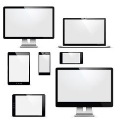 Electronic devices set vector