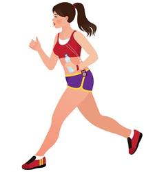 Girl jogging vector