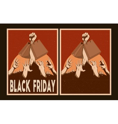 Sale posters set black friday posters vector