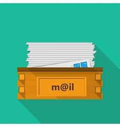 Flat icon for a mailbox for site and business vector