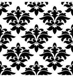 Vintage floral black and white arabesque seamless vector