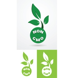 Non gmo sign vector