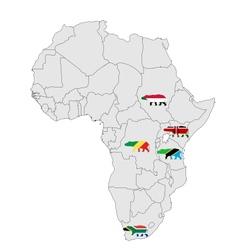 Hippo africa vector