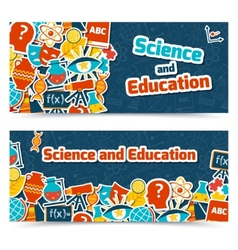 Education science banners vector