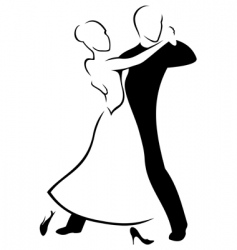 Couple dancing a waltz vector