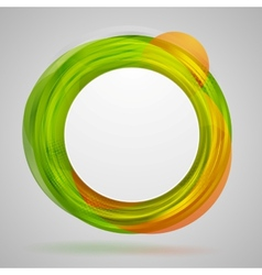 Bright concept circles abstract design vector