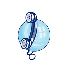 Vintage retro telephone vector