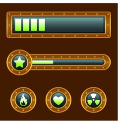 Steam punk progress bar vector