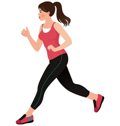 Running girl athlete vector