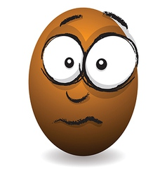 Emotions eggs coloured concerned vector