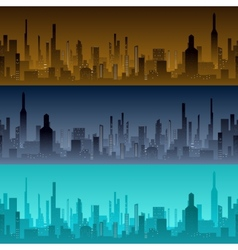 Cityscape backgrounds city in the morning vector