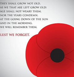 Remembrance day card in format vector