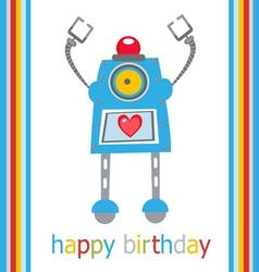 Cute birthday robot vector