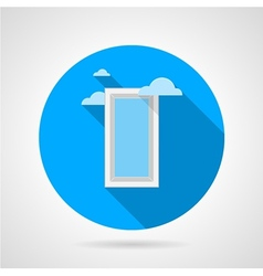 Flat icon for window with clouds vector