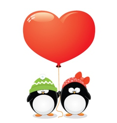 Penguin love vector