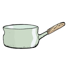 Saucepan with handle vector