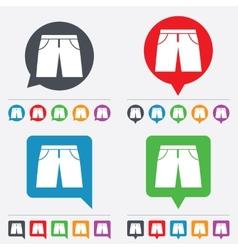 Mens bermuda shorts sign icon clothing symbol vector