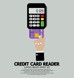 Credit card reader vector