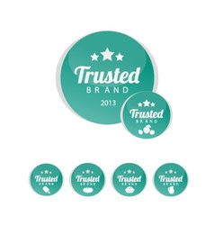 Trusted brand icons vector