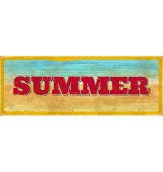 Vintage summer sign vector