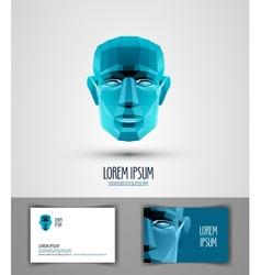Human logo design template head or robot icon vector
