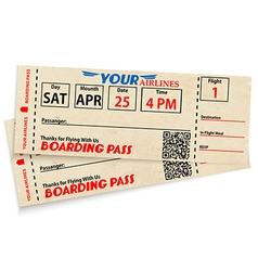 Boarding pass tickets vector