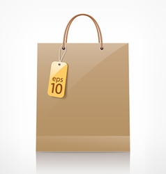 Bag brown shopping vector
