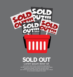 Sold out shopping concept vector