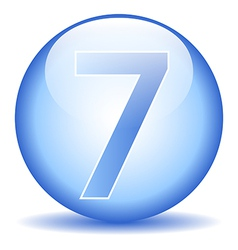 Number seven button vector