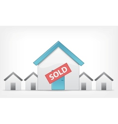 Sold home vector