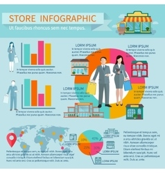 Stores infographic set vector