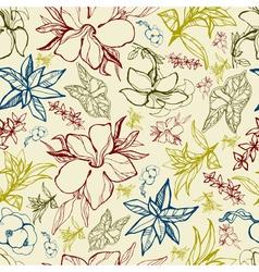Flower thai seamless vector