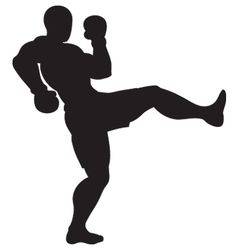 Front kick outline vector