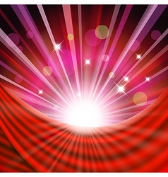 Background with red curtain vector