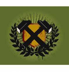 Hammer emblem vector