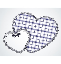 Lace ornaments and heart vector