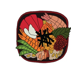 Japanese bento lunch vector