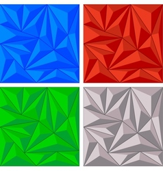 Crystal triangle background set vector