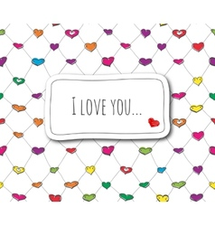 Sketch love card vector