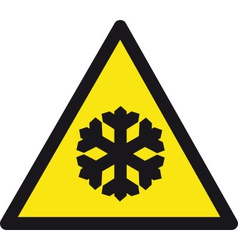 Freezing temperatures safety sign vector