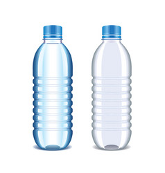 Plastic bottle for water isolated on white vector