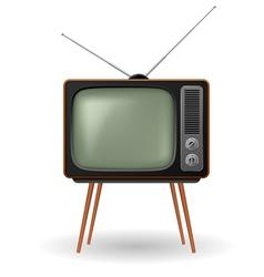 Old fashioned retro tv vector