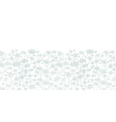 Abstract gray bush leaves textile horizontal vector