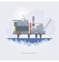 Sea oil platform vector