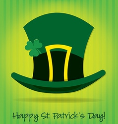 Leprechauns hat st patricks day card in format vector