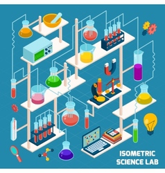 Isometric science lab vector