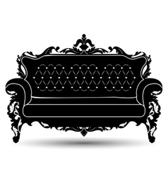 Silhouette of sofa vector