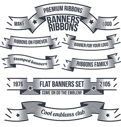 Set of banners and design elements vector